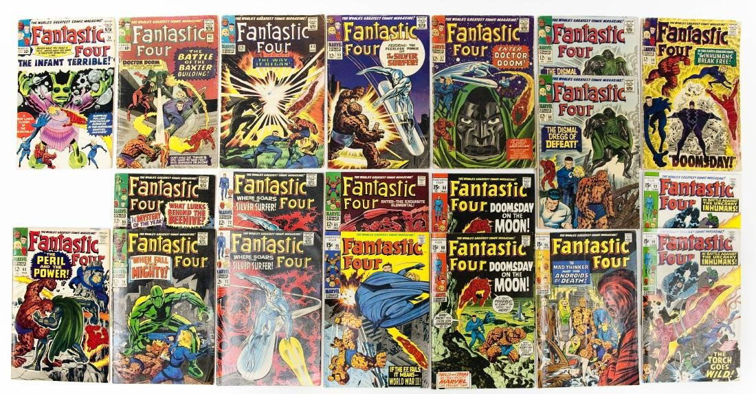 (20) Marvel Fantastic Four Comics.