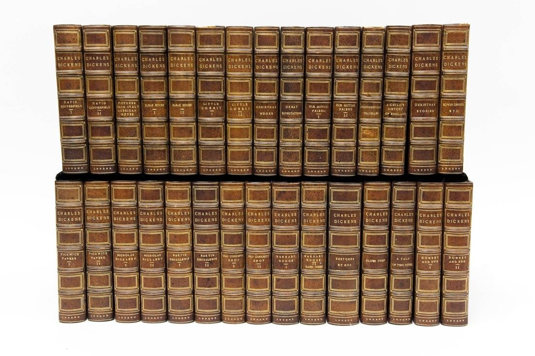 Charles Dickens Works, 30-volume set, Circa 1900.