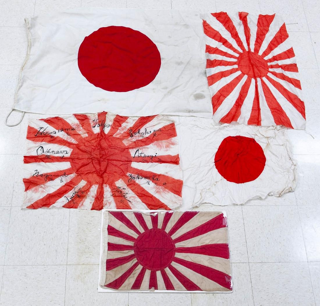 (5) Japanese Imperial Flags.