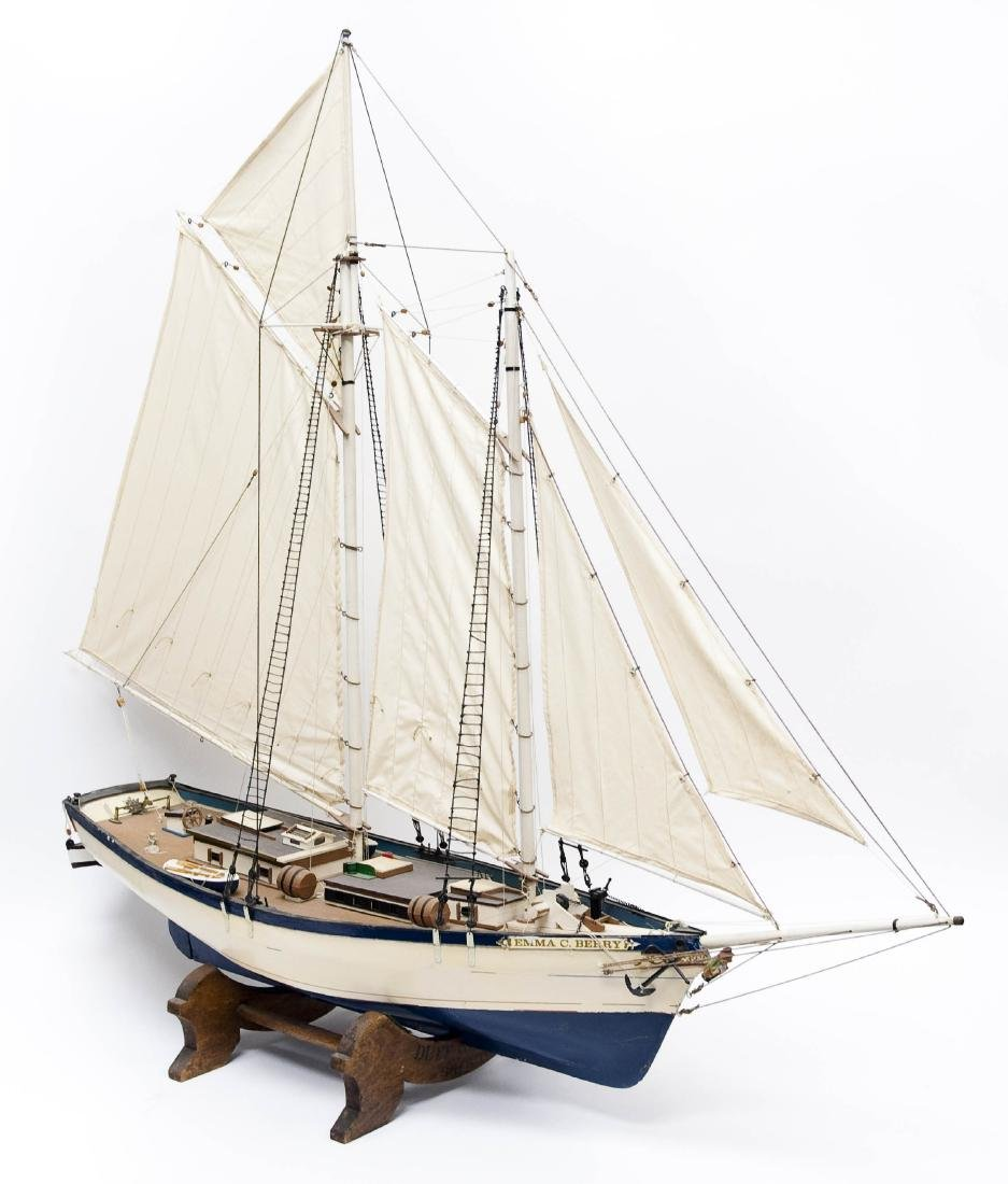 """Emma C. Berry"" Hand Crafted Model Sailing Ship."