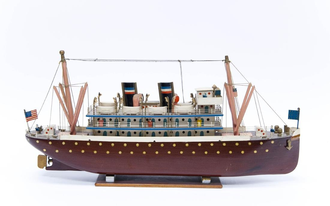 Hand Crafted Model Steam Ship.