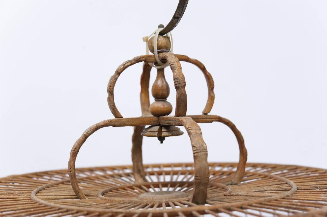 (2) Oriental Carved Wood Bird Cages. - 4