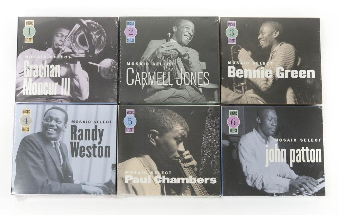 (6) Mosaic Select Jazz Sealed CD Box Sets, Nos.1-6.