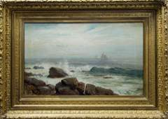 Lemuel Eldred Oil on Canvas, Sailing Ships.