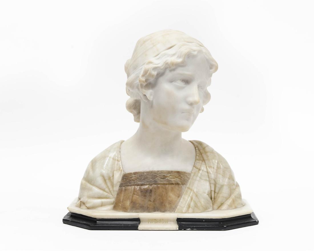 Italian Alabaster Bust.
