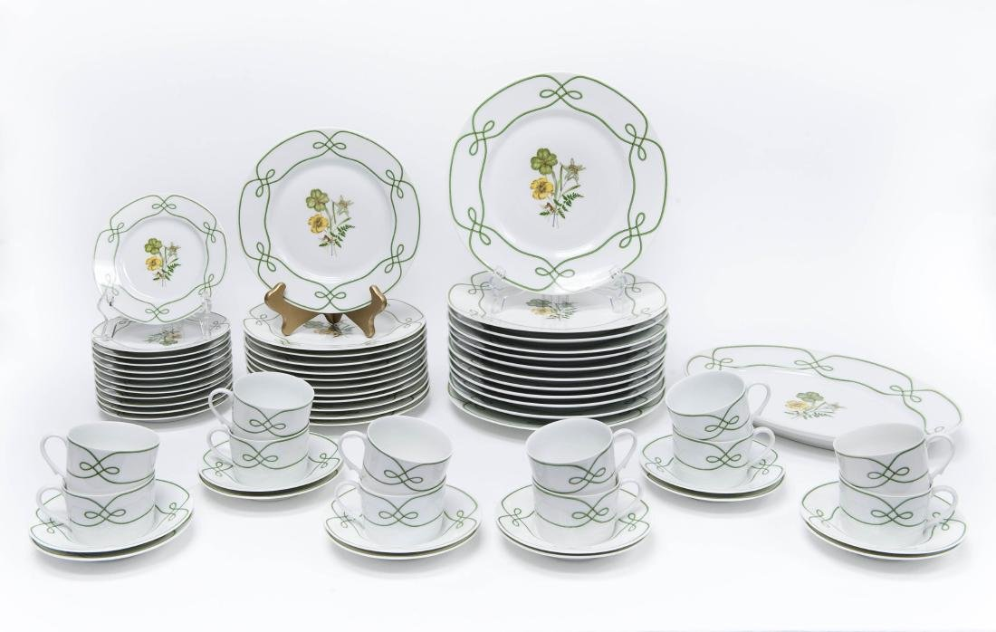 """A. Raynaud & Cie Limoges """"Edelweiss"""" Dinner Service."""