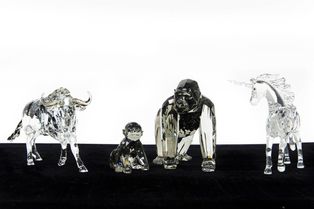 (3) Swarovski Crystal Sculptures.