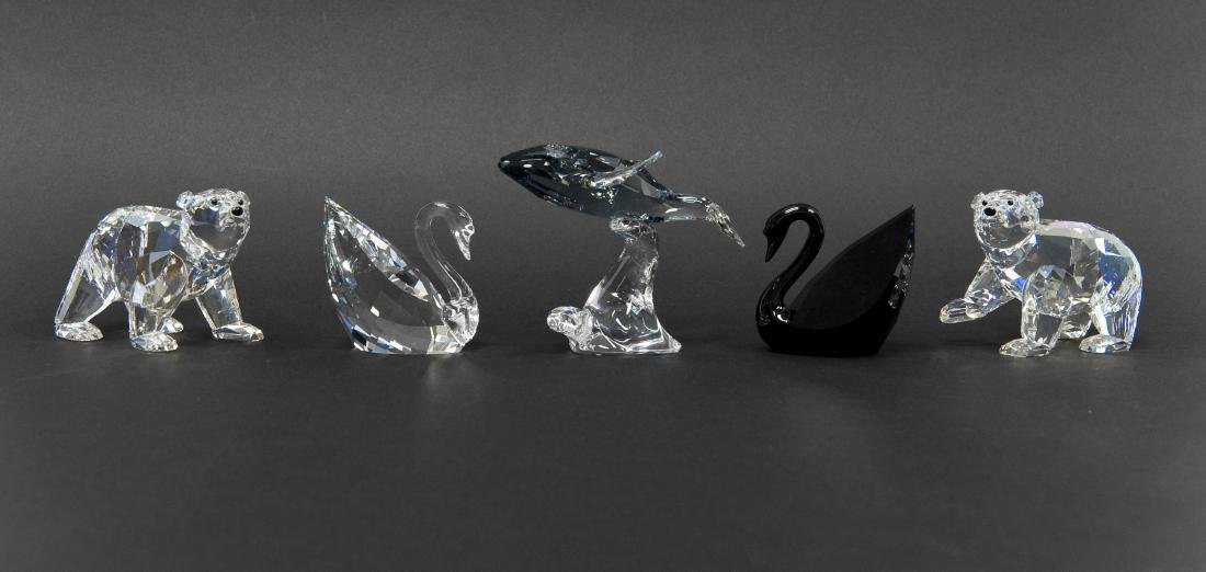 (3) Swarovski Crystal Sculptures.