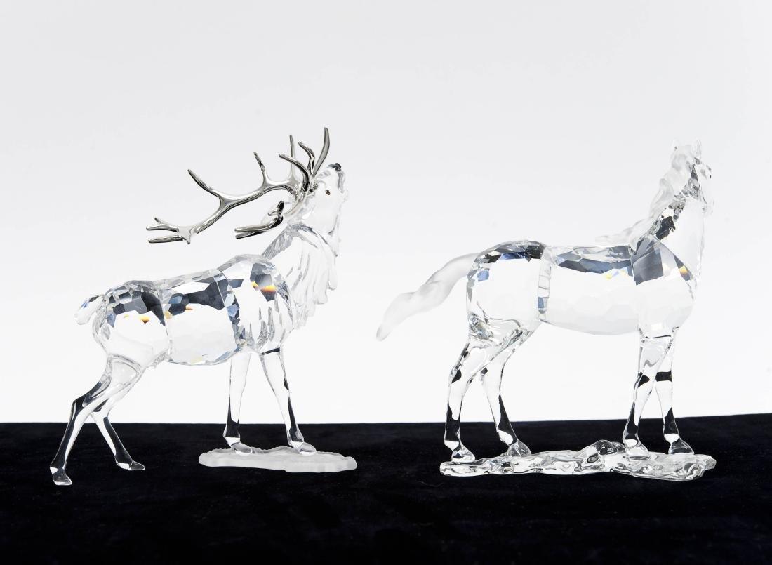 (2) Swarovski Crystal Sculptures. - 2
