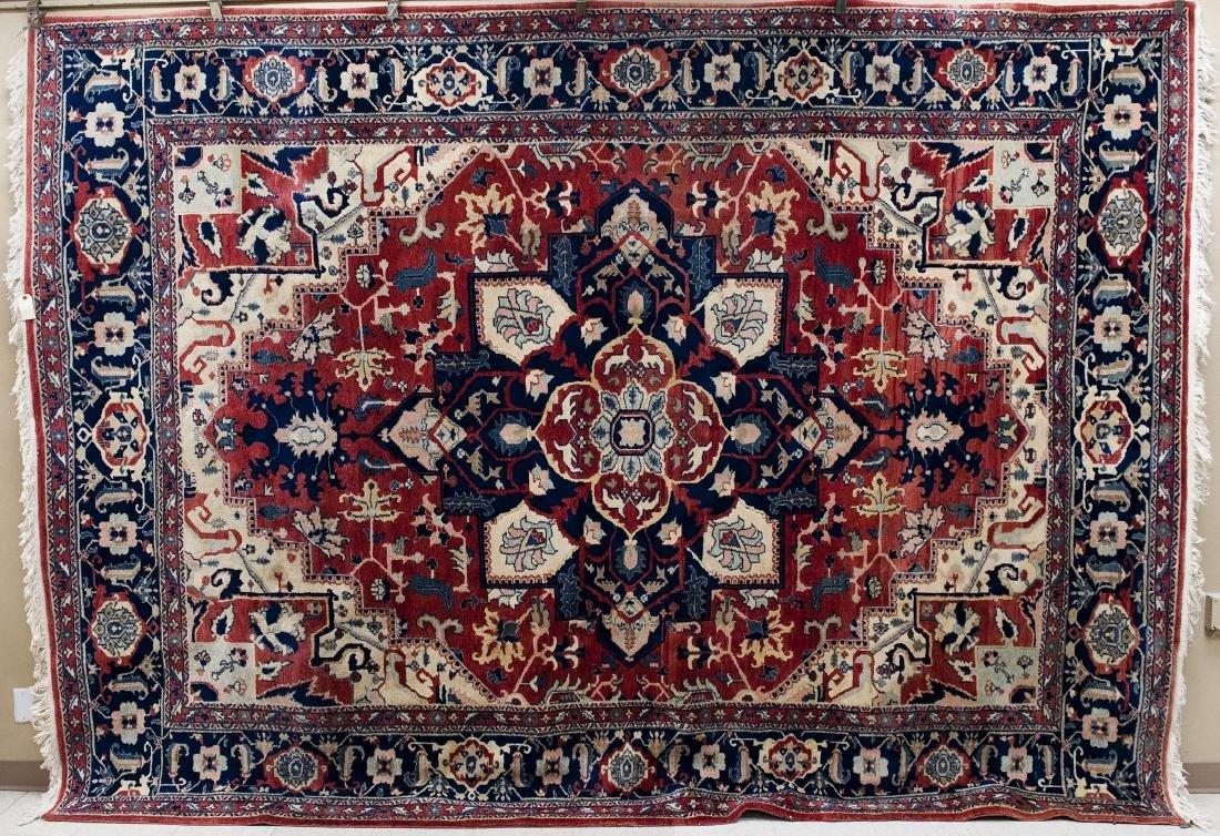 Heriz Persian Wool Rug, Serapi Style.