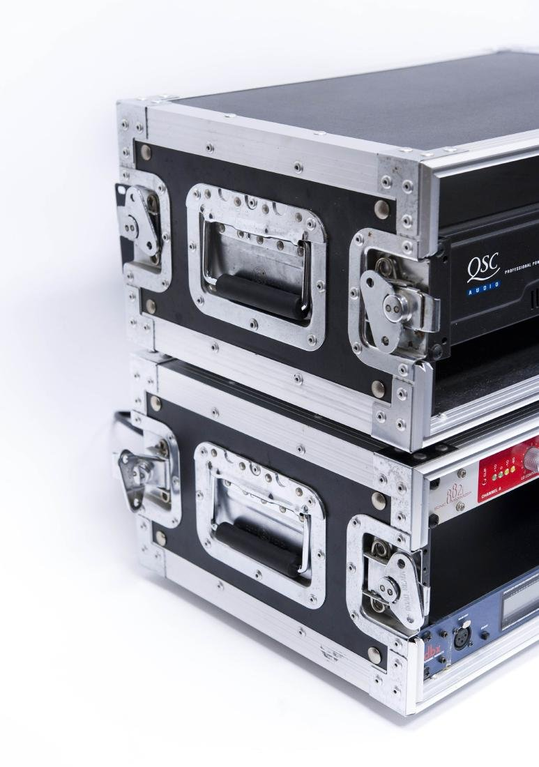 (3) Audio/PA Components in Road Ready Rack Cases. - 10