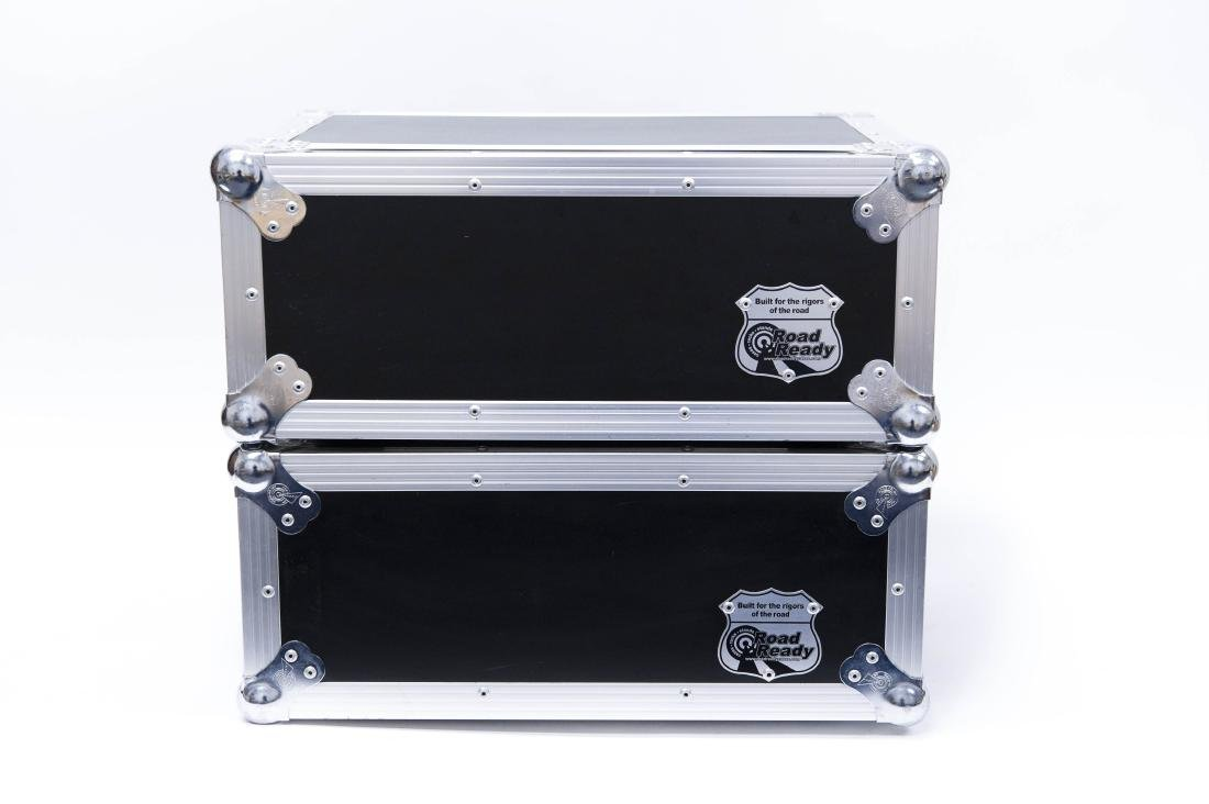 (3) Audio/PA Components in Road Ready Rack Cases. - 12