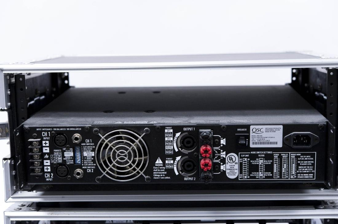 (3) Audio/PA Components in Road Ready Rack Cases. - 2