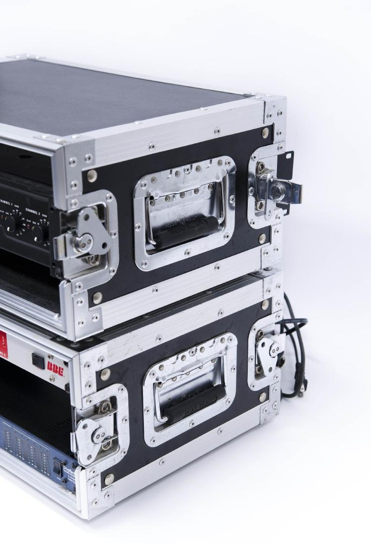 (3) Audio/PA Components in Road Ready Rack Cases. - 9