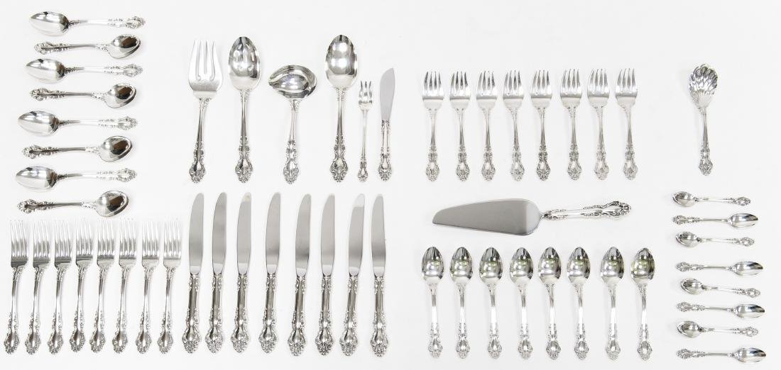 "Reed & Barton ""Rose Arbor"" Sterling Silver Flatware."