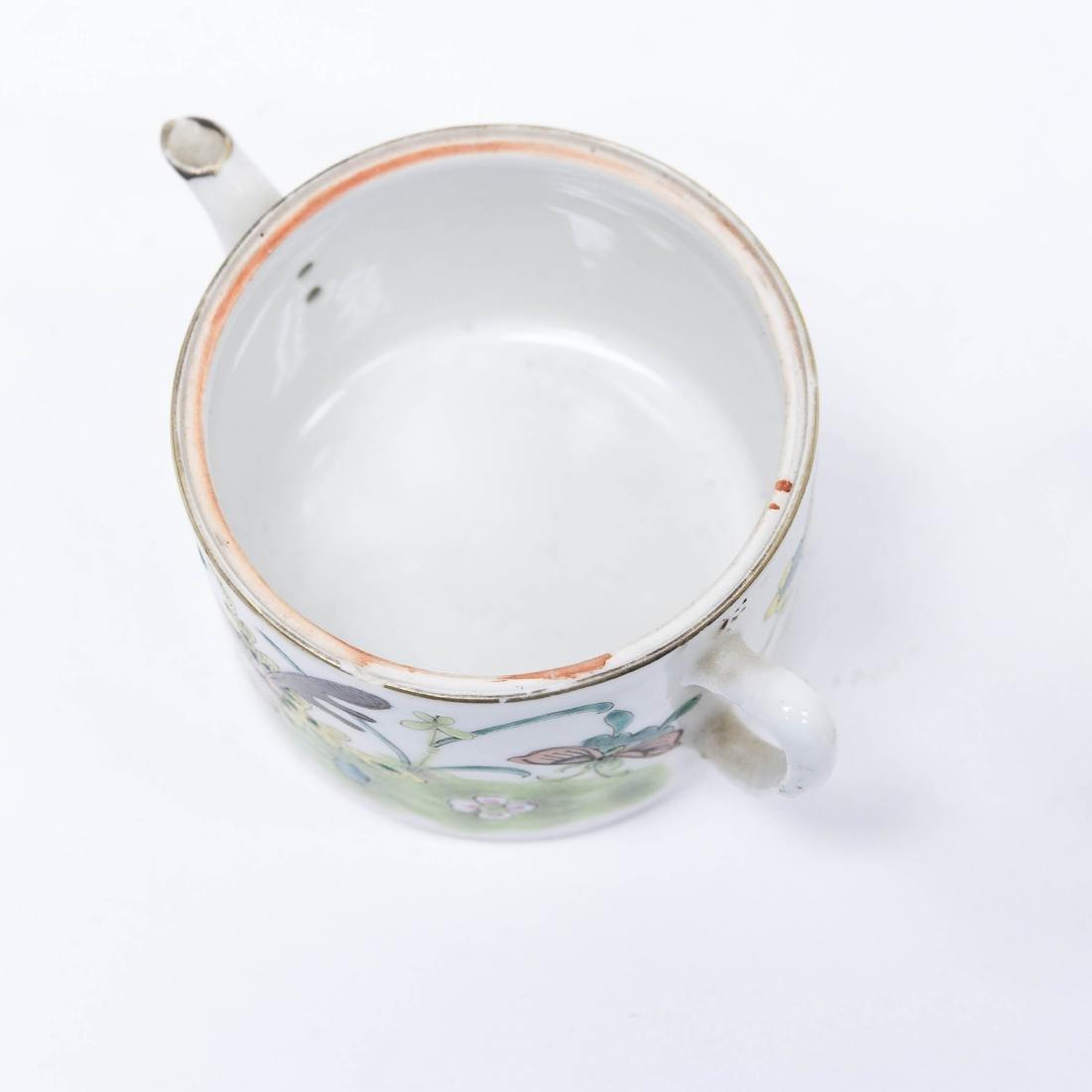 (2) Chinese Porcelain Miniature Teapots. - 3