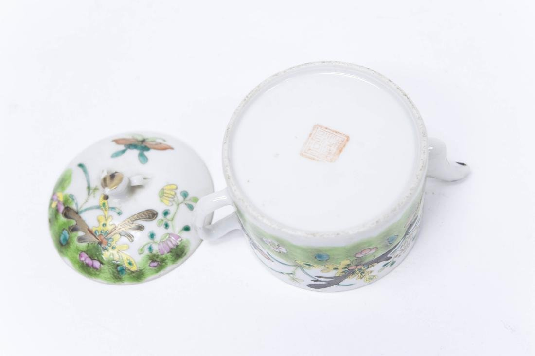 (2) Chinese Porcelain Miniature Teapots. - 5