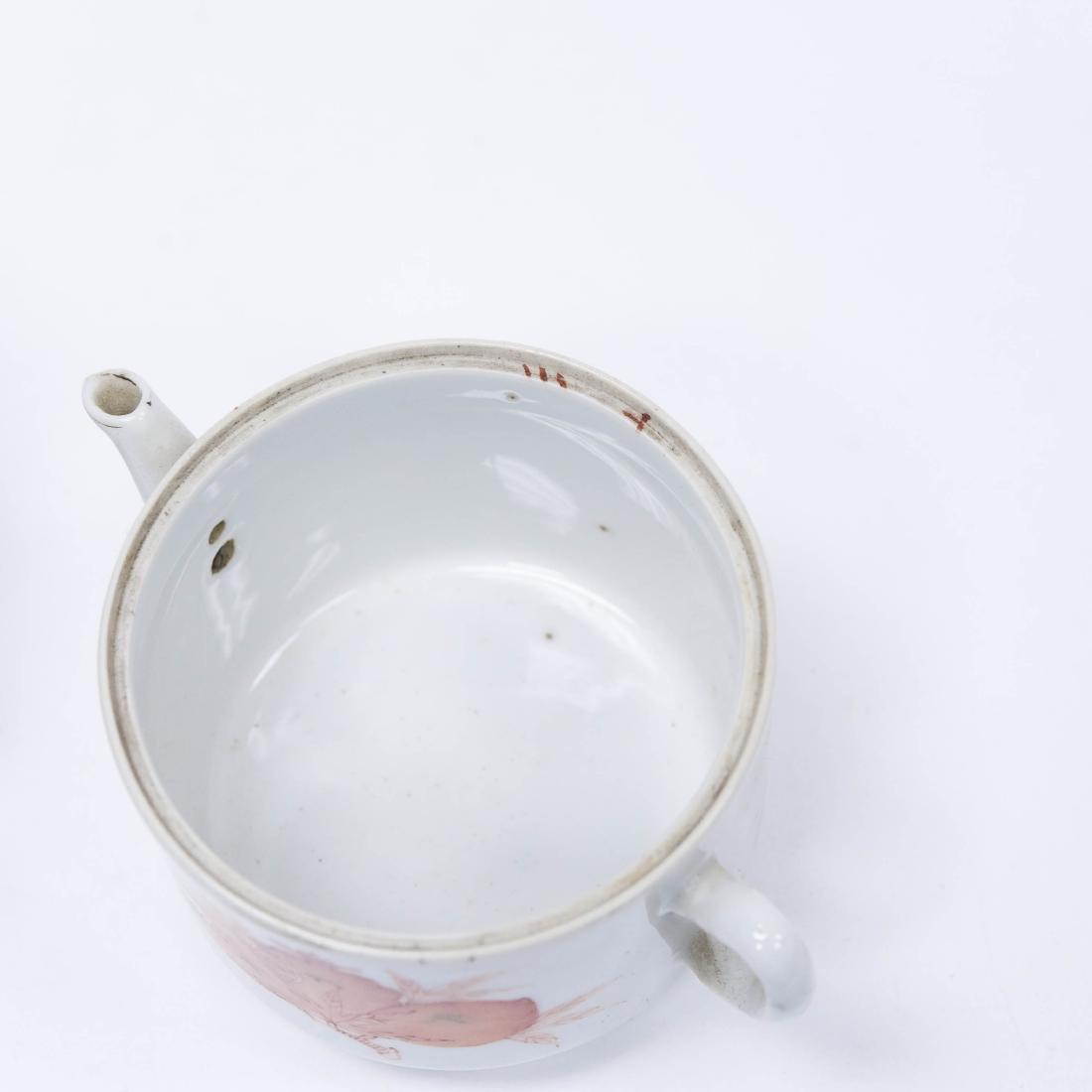 (2) Chinese Porcelain Miniature Teapots. - 7