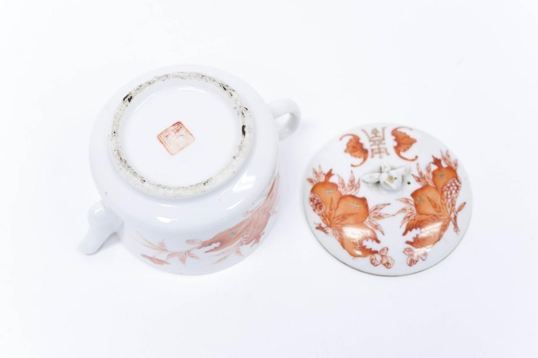 (2) Chinese Porcelain Miniature Teapots. - 8