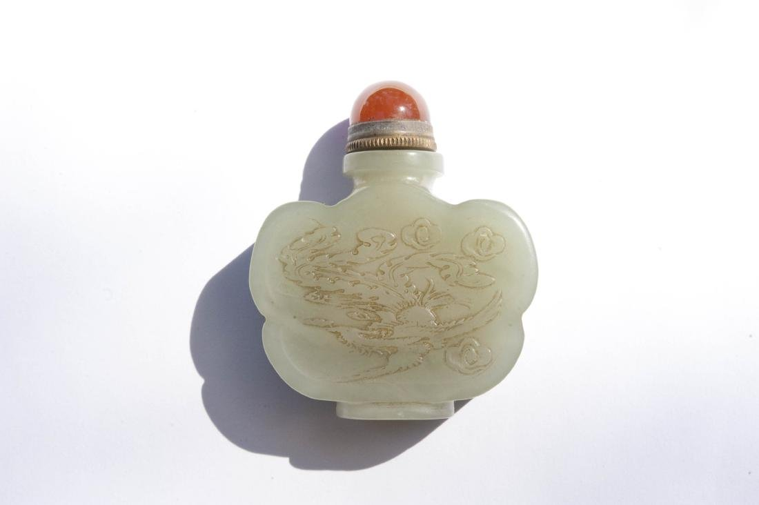Chinese Carved Jade Snuff Bottle. - 9