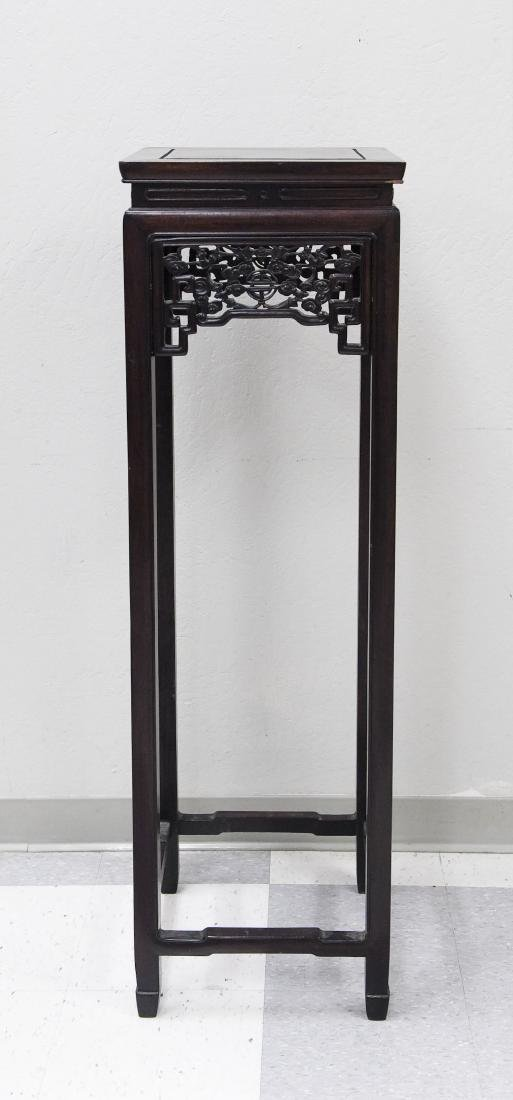 Chinese Carved Rosewood Tall Stand.