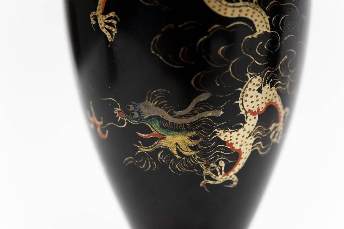 (2) Pairs of Oriental Lacquered Vases. - 3