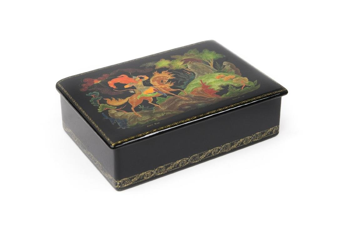 Kornilov Palekh Russian Lacquer Box.