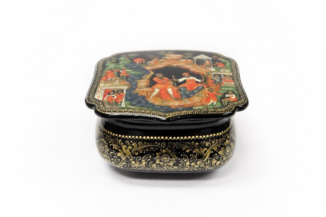 Myzkina Palekh Russian Lacquer Box.