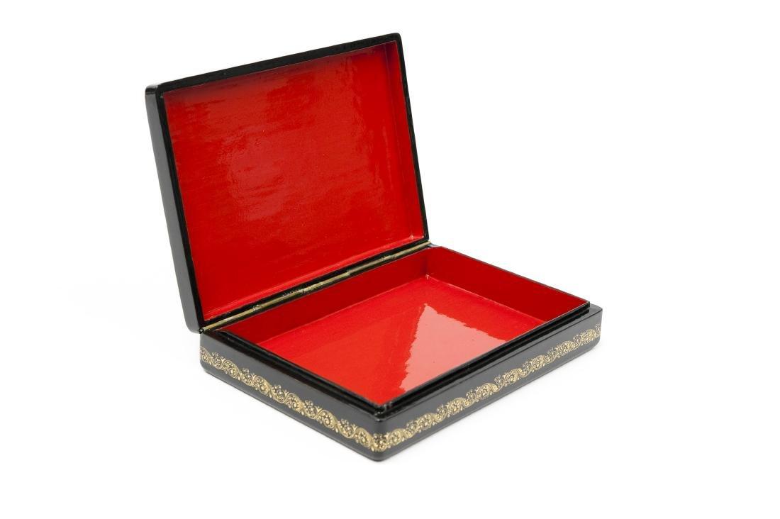 Kuzlova Palekh Russian Lacquer Box. - 6