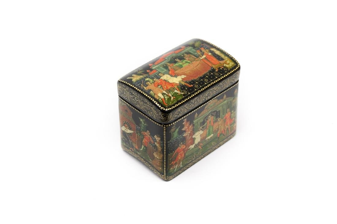 Palekh Russian Lacquer Miniature Box.