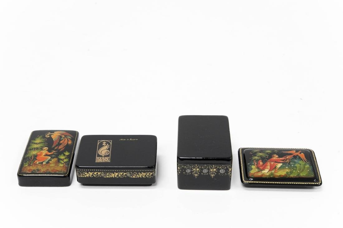 (2) Palekh Russian Lacquer Miniature Boxes. - 3