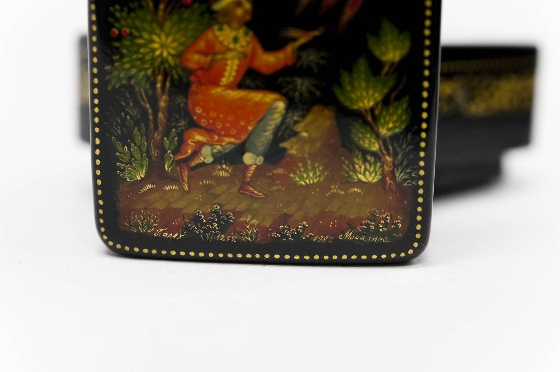 (2) Palekh Russian Lacquer Miniature Boxes. - 4