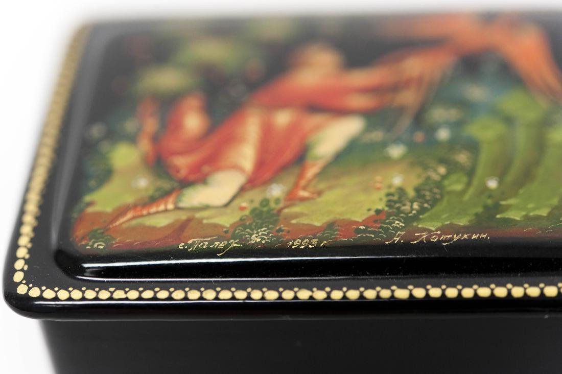 (2) Palekh Russian Lacquer Miniature Boxes. - 6