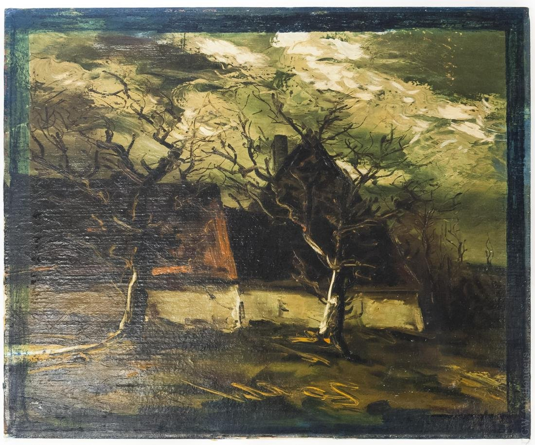 Attributed to Maurice de Vlaminck, Oil on Canvas.