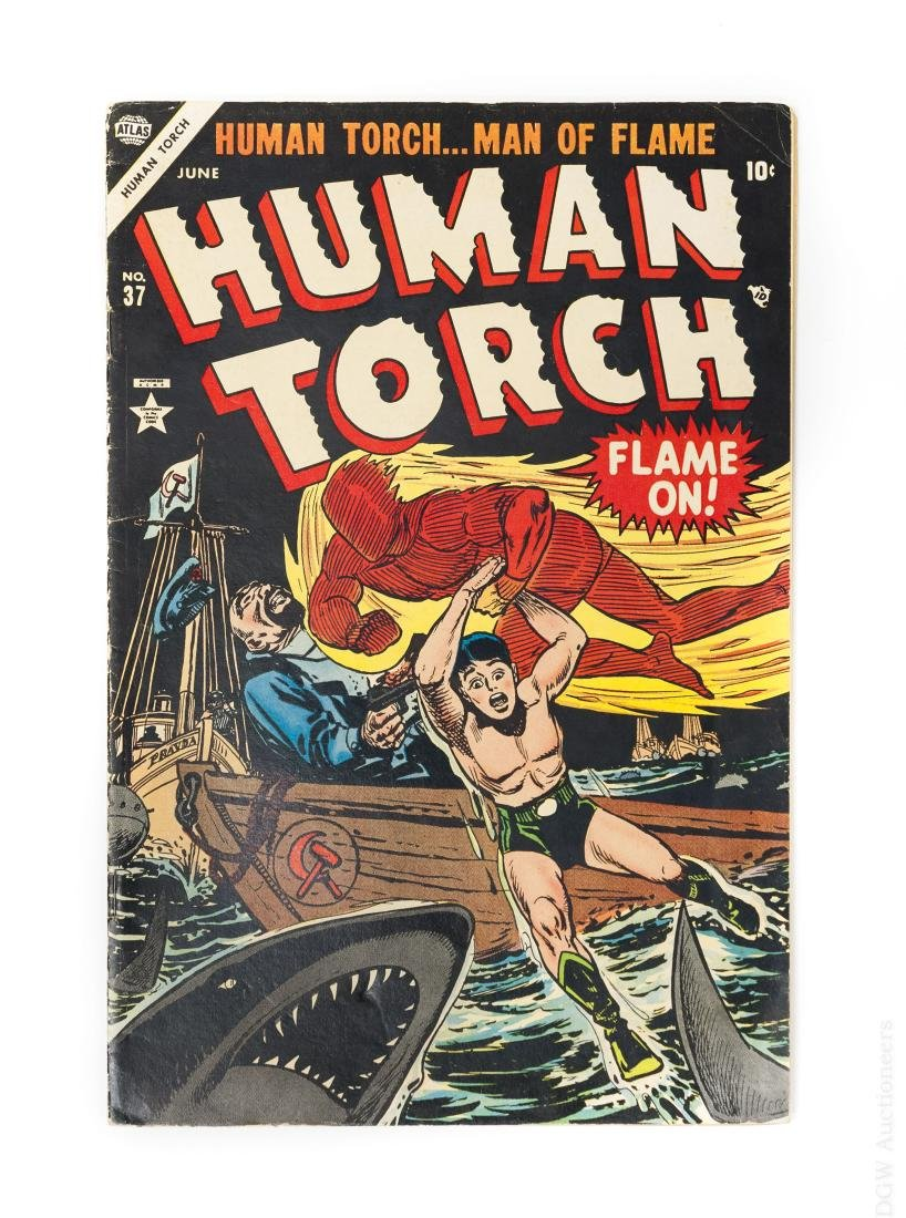 Atlas 10-cent Comic Book, The Human Torch #37.