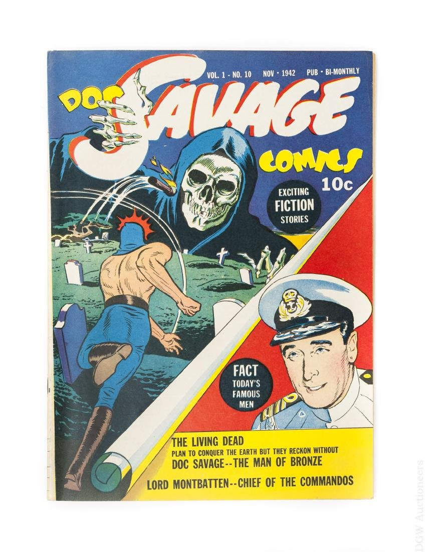 Comic Book, Doc Savage Comics, Vol, 1, #10.