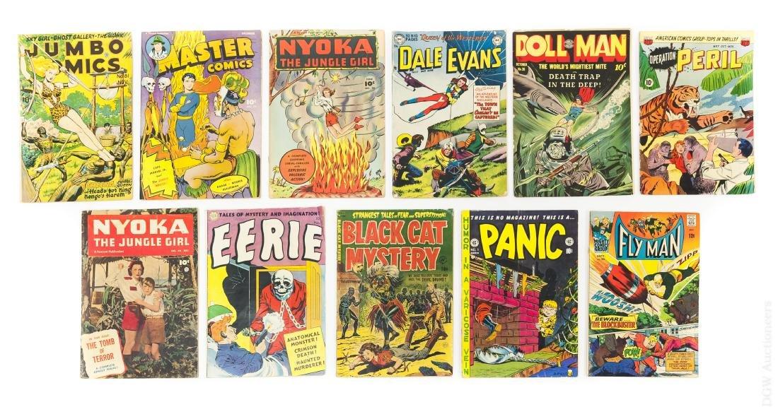 (11) Vintage 10-cent Comic Books.