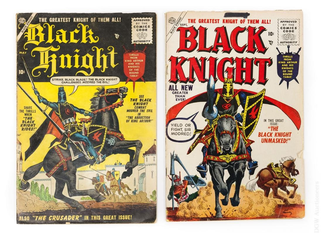 (2) Atlas Black Knight Comics, Vol. 1, #1 & #3.