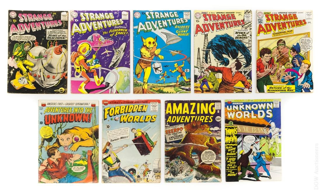 (9) Vintage 10-cent & 12-cent Comic Books.