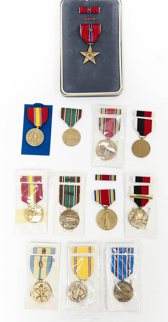 U.S. World War II Bronze Star and Other Medals.