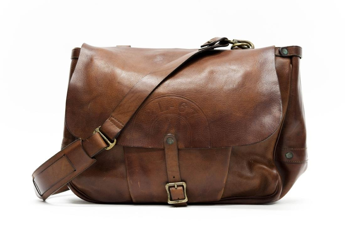 Ralph Lauren RL-67 Leather Messenger Bag.