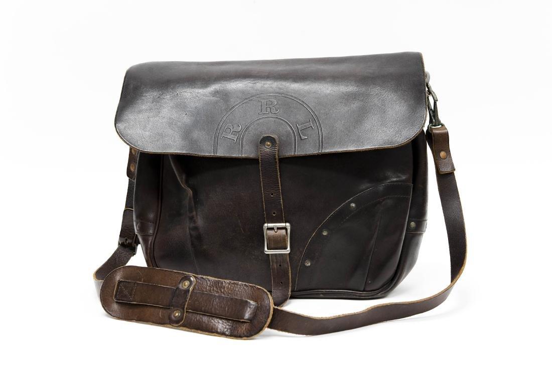 Ralph Lauren RRL Leather Messenger Bag.