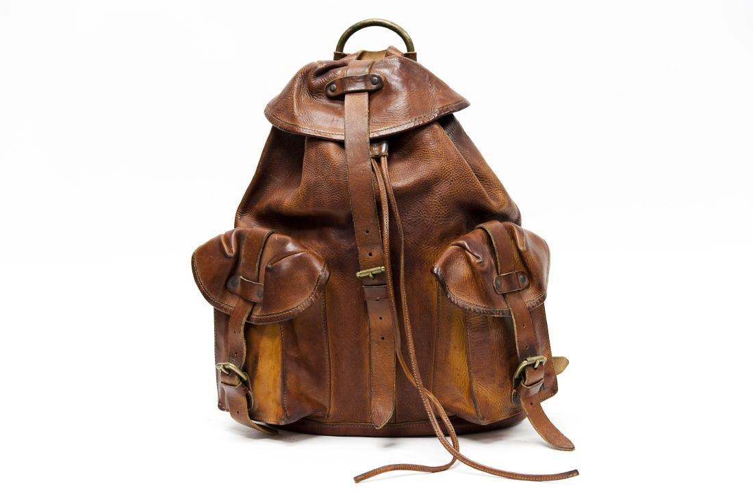 Ralph Lauren RRL Leather Backpack.