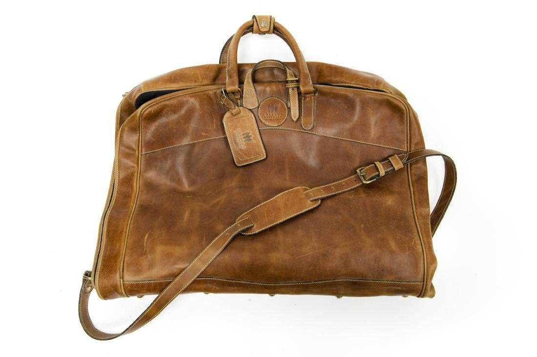 Holland Brothers Leather Garment Bag.