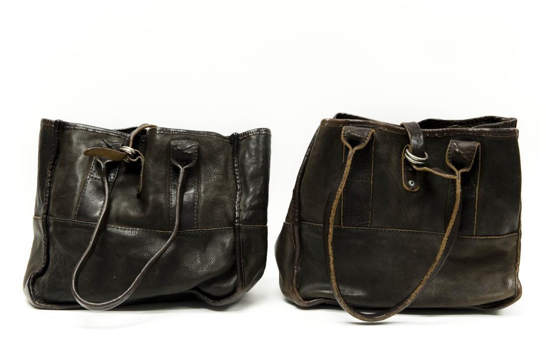 (2) Ralph Lauren RRL Leather Handbags.