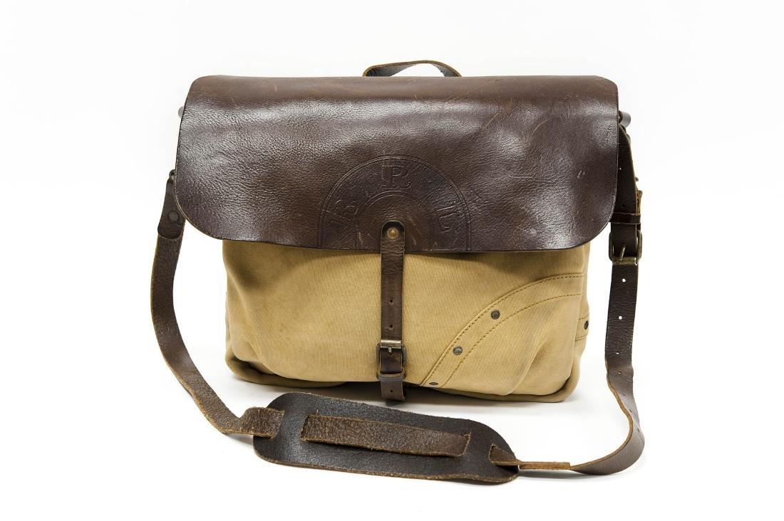 Ralph Lauren RRL Canvas & Leather Messenger Bag.