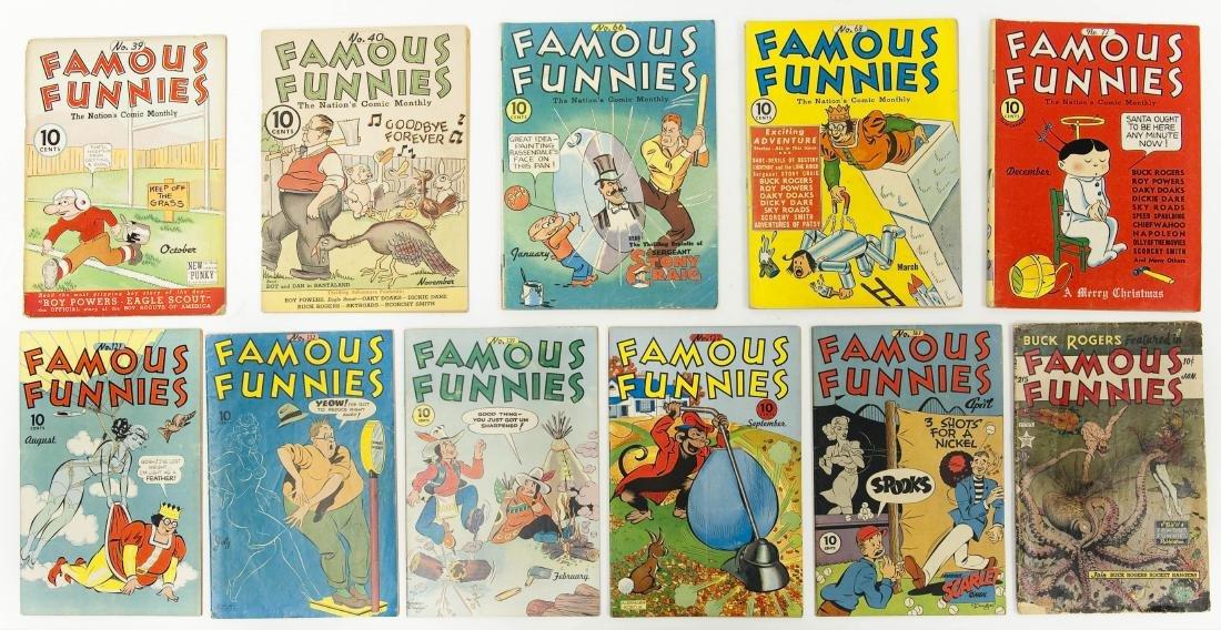(11) Famous Funnies 10-cent Comic Books