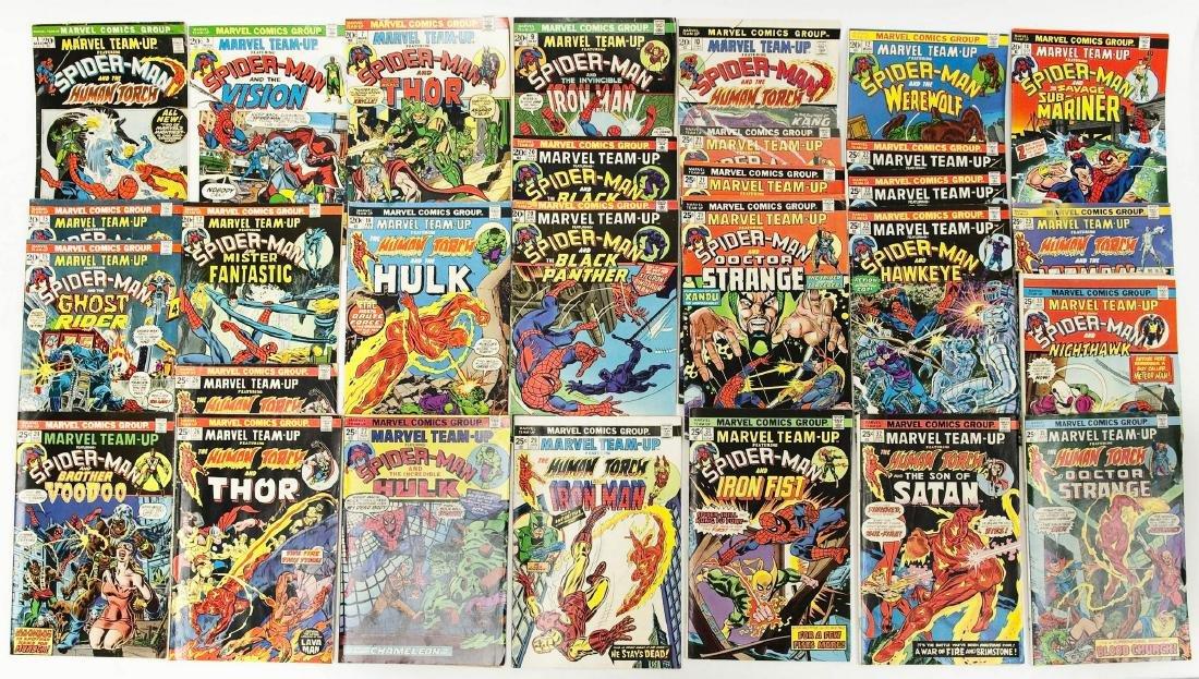 (29) Marvel Team-Up Comic Books.