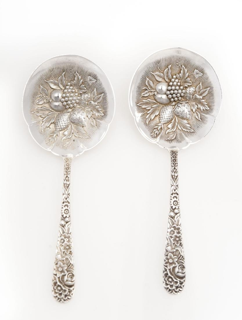 (2) S. Kirk & Son Sterling Silver Berry Spoons.