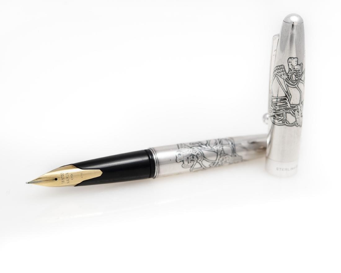Namiki Sterling Silver Fountain Pen.